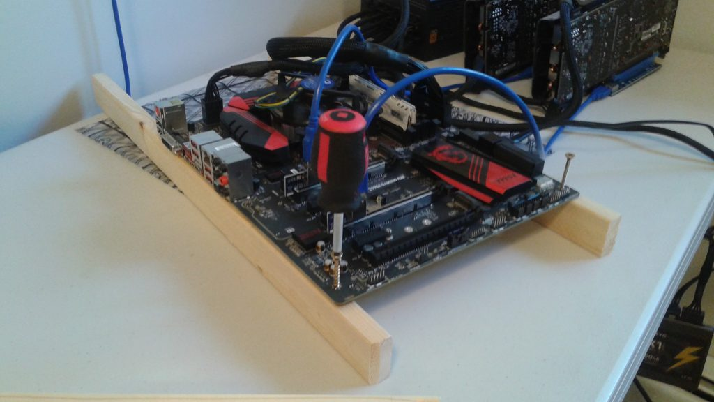 Build A 6 Mining Rig Frame With Wood And Screws And A Few Zipties